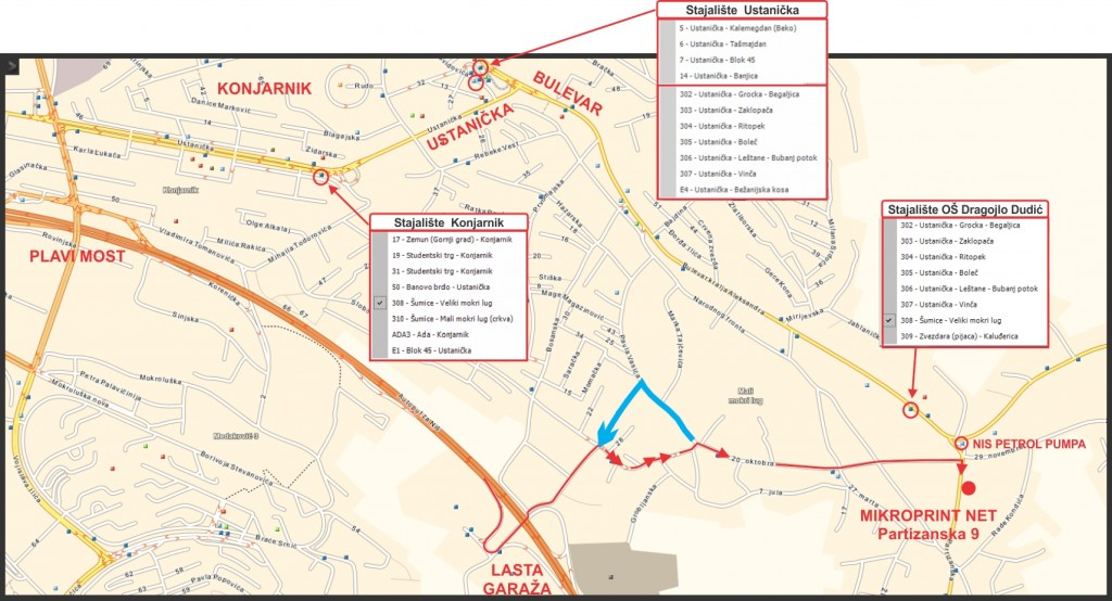 Plan sa gradskim saobraćajem
